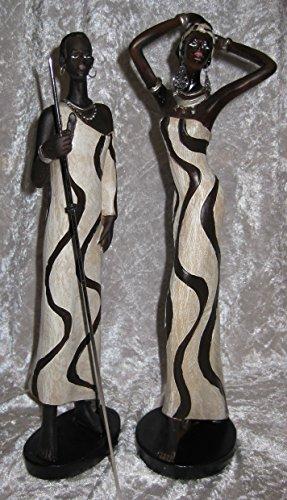 Dekorative Frau Massai Figur Skulptur Afrika 2 Frauen