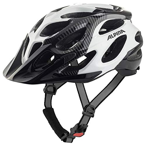 Alpina Sports Unisex – Erwachsene Thunder 2.0 Radhelm, Black-White, 52-57