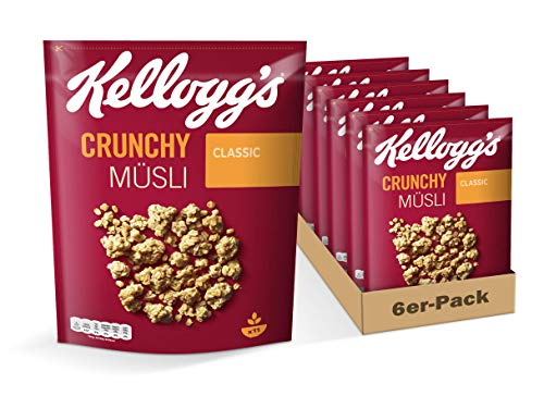 Kellogg's Crunchy Müsli Classic   Knuspermüsli   6er Vorratspackung (6 x 500g)