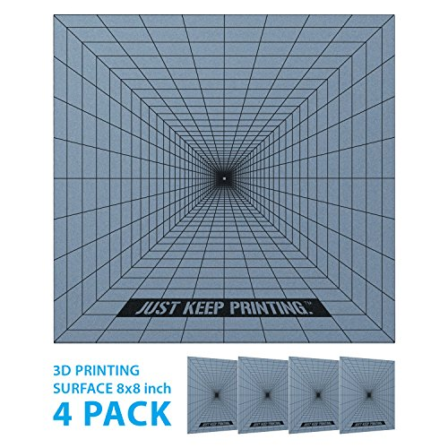 Best 3D Printing Build Surface - 8x8 Square Bases - Bin The Blue Tape, Kapton Tape and Hairspray, No Prep 3D Print Base - Premium 3D Printer Parts and Accessories