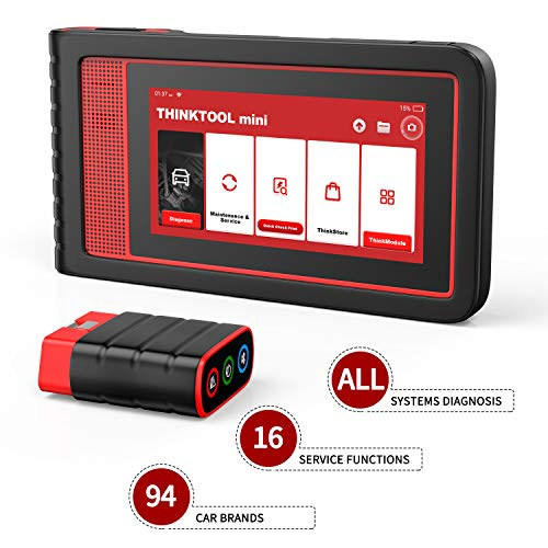 thinkcar ThinkTool Mini Automotive OBD2 Diagnostic Car Scanner Full System Diagnostic Tool 16 Maintenance Functions Full OBD2/EOBD2 Functions Bidirectional Control Auto Scanner Code Reader Scan Tool