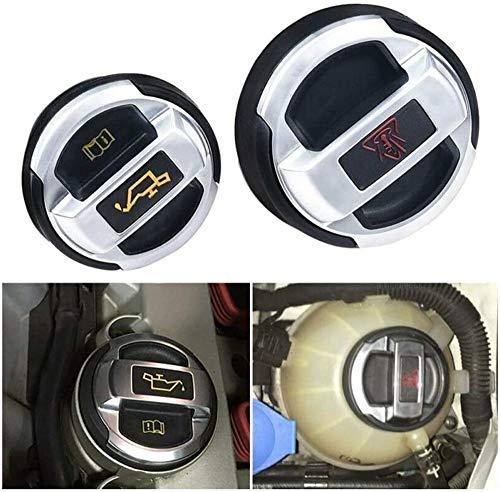 BeggarLord Für R8 Kühlmittel- und Ölexpansionsdeckeldeckel für VW Scirocco Passat cc Golf GTI Golf R Tigan 420121321/420103485B (2 Pc)