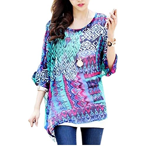 oukin womens bohemian floral batwing