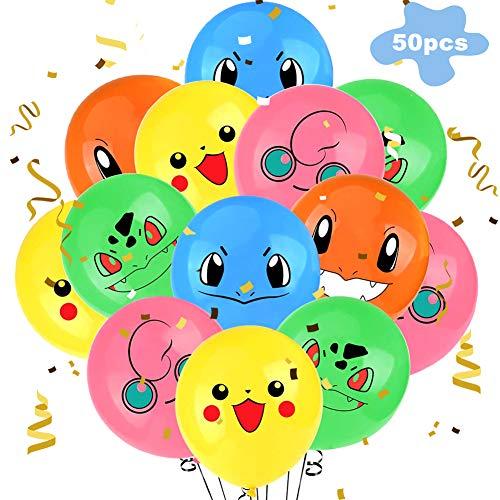Latexballons BETOY 50 Stück Luftballons Bunte Latexballons Farbige Ballons für Geburtstags Partydekoration (Zufällige Farbe)