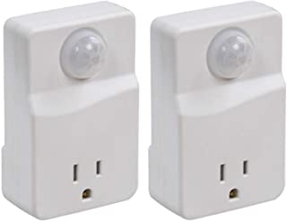 Motion Sensor Light Control – Outlet Plug-in Controller Turns On Indoor Lights When Movement Is Detected – LED Compatible, Ideal For Dark Rooms, Hallways –25ft Detection, 100 Degree Zone, MLC4BC