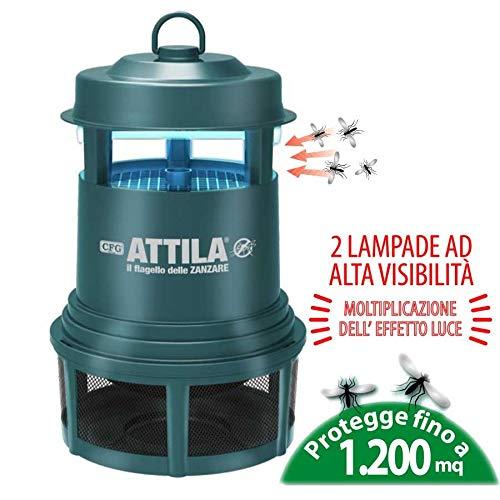 CFG Attila Lampada Anti Insetto, ZANZARE Comuni, Mosche ECC CERTIFICATA per Uso Esterno. Protegge Fino A 1200MQ MOD. H041