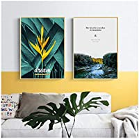 壁の芸術、北欧のキャンバスの絵画現代の風景花植物の写真リビングルームの廊下ホテルのポスターフレームなし