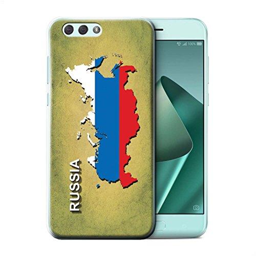 Stuff4 beschermhoes/cover/case/behuizing/kassa, bedrukt, motief landen vlag voor ASUS Zenfone 4 ZE554KL - Russisch