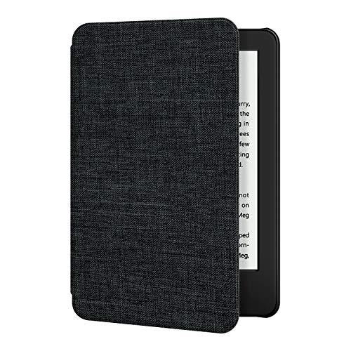 Funda de Tela OLAIKE para el Nuevo Kindle Versión 10th Gen 2019 - La Cubierta Inteligente más Delgada y Liviana con activación/suspensión automática, Negro