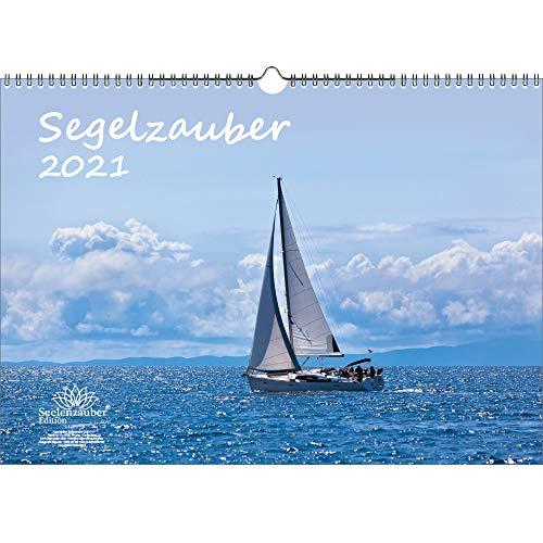 Segelzauber DIN A3 Kalender für 2021 Segelschiffe und Meer - Geschenkset Inhalt: 1x Kalender, 1x Weihnachtskarte (insgesamt 2 Teile)