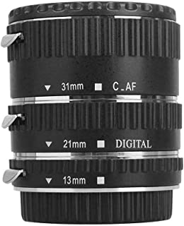 Meike Tubo de extensión automático Macro para Canon - tres tubos pieza - 13mm 21mm 31mm para Canon EOS 1000D 1100D 600D 550D 500D 450D 400D 350D 300D 60D 50D 40D 30D 20D 10D 7D 5D 5D Mk II 1D 1Ds 1D Mk II 1Ds Mk II 1D Mk II N 1D Mk III 1Ds Mk III