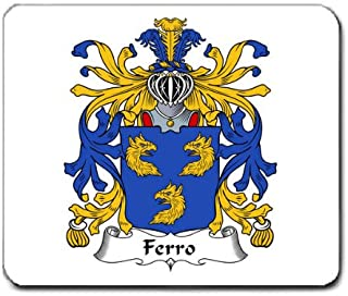 Ferro Family Crest Coat of Arms Mouse Pad