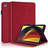CaseFun Funda Compatible con Lenovo Tab P11 11-Pulgada 2020 Tableta (TB-J606F / TB-J606X),Funda de Cuero Premium con Bolsillo Función de Soporte para Lenovo Tab P11 11 Pulgada 2020 Tableta,Rojo