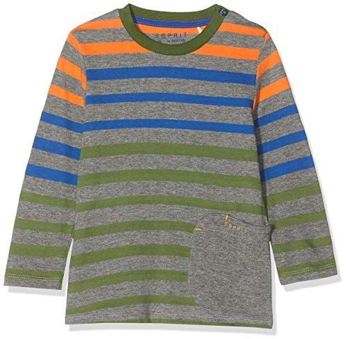ESPRIT KIDS Baby-Jungen RP1013209 T-Shirt Long Sleeves Langarmshirt, Grau (Dark Heather Grey 201), (Herstellergröße: 62)