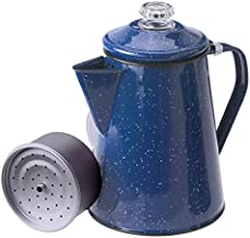 GSI Outdoors 12 Cup Enamelware Percolator Coffee Pot for Campsite, Cabin, RV, Kitchen, Groups, Backpacking , Blue