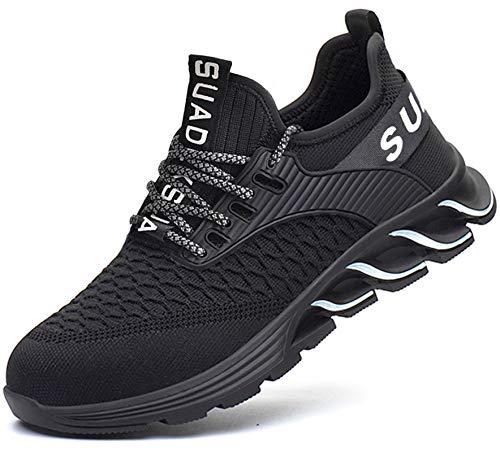 SUADEX 安全靴作業靴 おしゃれ あんぜん靴 黒 作業 工事現場 靴 スニ一カ一 通気性 鋼先芯 耐摩耗 防刺 耐滑ソール アウトドア スニーカー ワーク シューズ セーフティーシューズ