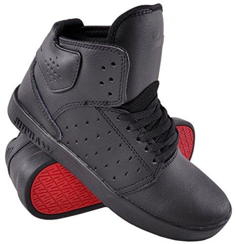 Supra Atom, Jungen Hi-Top Sneakers, Schwarz - Schwarz  - Größe: 20 EU