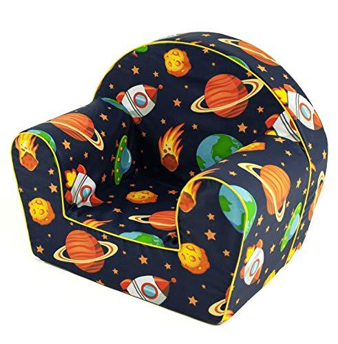 MuseHouse - Silla infantil con asiento y respaldo, butaca para niños de 0 a 4 años