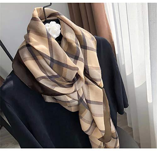 XUZHUO las mujeres bufanda verano bufandas otoño invierno celosía tela de la moda impresión señoras playa suave chal