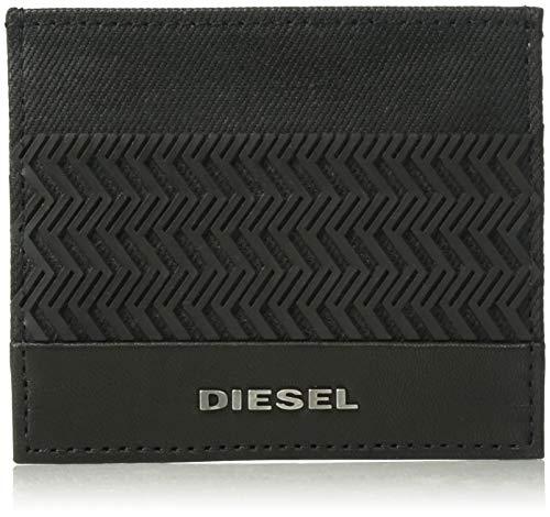 Diesel Herren DABOLMAT JOHNAS I Kreditkartenhalter, Black Denim/Black, Einheitsgröße