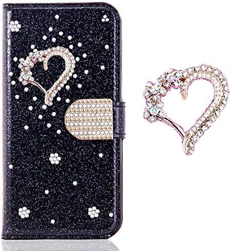Flip Leder Für Huawei P30 Stand Funktion Diamond Sparkle Billig Glitter Glitzer Musterg Soft Slim Retro Bookstyle Karteneinschub Magnet Wallet Hülle Musikinstrumente