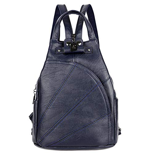 CMZ Backpack Women's Chest Bag Soft Leather Stitching Anti-Theft Three-Purpose Bag Multi-Function Large Capacity Ladies Travel Backpack