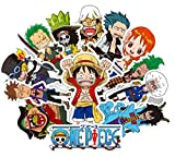 ⭐️ Top Stickers ! ⭐️ Lot de 48 Stickers One Piece - Autocollant HD Vinyles Non Vulgaires – Manga, Luffy, Zorro, Nina, Bomb - Customisation murs, pc, mac, bagages, moto, vélo, skateboard… (#48-ONEPC)