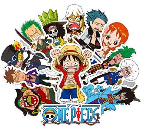SetProducts Top Pegatinas! Juego de 48 Pegatinas de One Piece Luffy Kid Zorro Vinilos - No Vulgares - Fashion, Estilo, Bomba - Personalización Portátil, Equipaje, Motocicleta, Bicicleta…