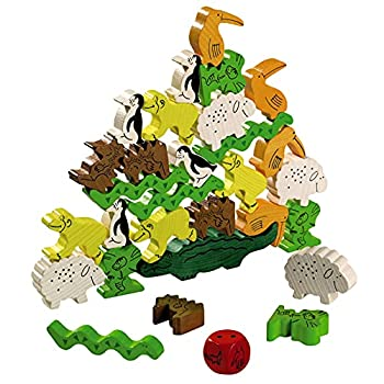 HABA Animal Upon Animal - Classic Wooden Stacking Game Fun for The Whole Family  Made in Germany
