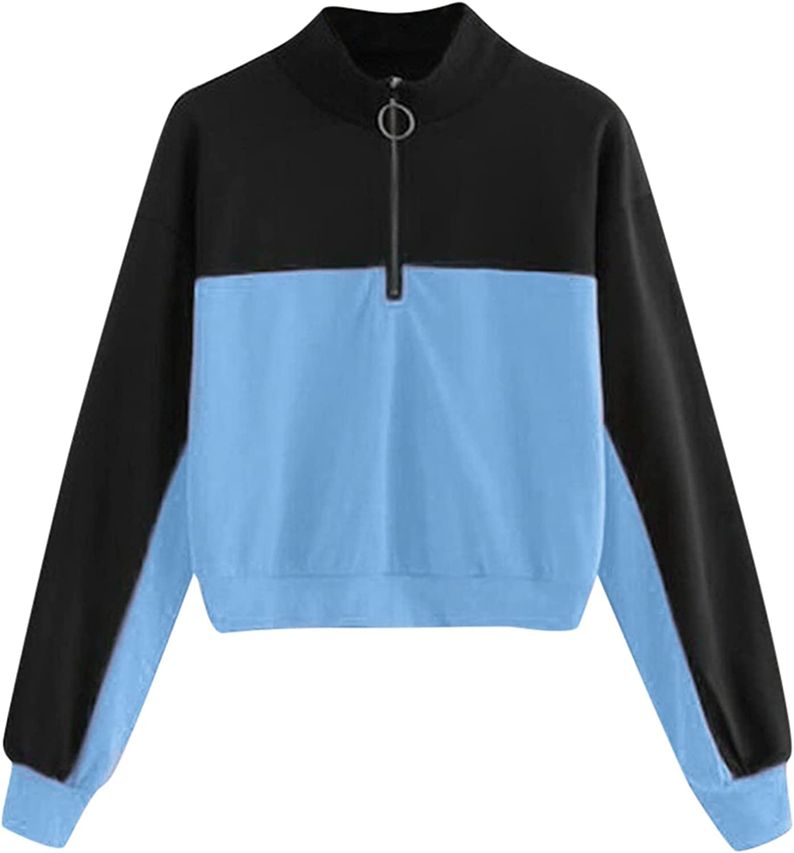 Phoenix Mall Jchen Pullover Zipper Sweatshirt for Color Women Girls Teen Limited time for free shipping Bloc