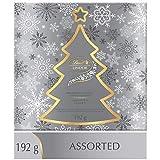 lindt lindor christmas silver tree assorted chocolates, gift box, 192g, 192 grams