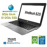 HP EliteBook 820 G1 Core i7-4600U 8GB 512GB SSD 12.5' HD AG LED Windows 10 Professional con licencia Nueva Simpaticotech MAR Microsoft Authorized Refurbisher (Reacondicionado)