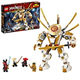 LEGO NINJAGO, Legacy Figure d'action, Le robot d'or avec Lloyd, Wu et le General Kozu, Set de construction Ninja, 120 pièces, 71702
