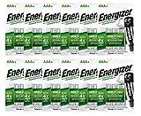 Energizer Power Plus AAA - Pilas Recargables, Color Plateado - Caja de 12 Blister de 4 Pilas (Total 48 Pilas)