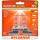 SYLVANIA - 9012 SilverStar Ultra - High Performance Halogen Headlight Bulb, High Beam, Low Beam and Fog Replacement Bulb, Brightest Downroad with Whiter Light, Tri-Band Technology (Contains 2 Bulbs)