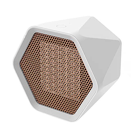 Yunyan Calefactor portátil eléctrico de escritorio, ventilador de aire caliente, diseño hexagonal, calentador de cocina