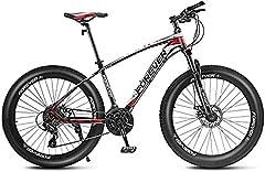 Bicicletas de montaña de 27.5 pulgadas, bicicleta de montaña rígida de 21/24/27/30 velocidades para adultos, cuadro de aluminio, bicicleta de montaña todo terreno, asiento ajustable,Black red,27 Speed