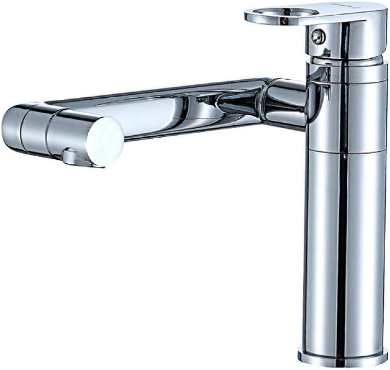Wasserhahn Chrom Waschbecken Wasserhahn Messing Einlochmontage Becken Heie und kalte Becken Wasserhahn 720 Grad Drehung