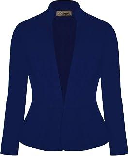 Sponsored Ad - Hybrid & Company Womens Casual Elegant Work Office Nylon Ponte Blazer Jacket