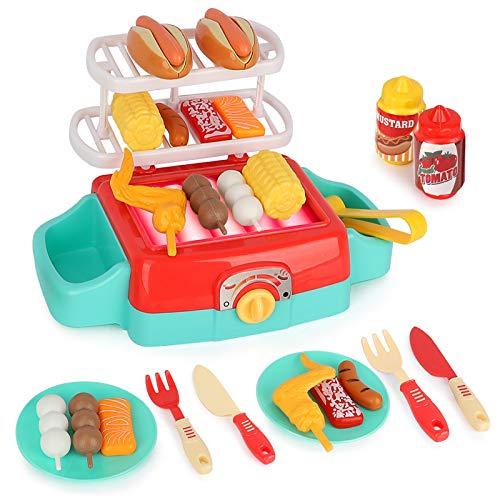 LBLA Barbacoa Juguetes,BBQ Juguetes de Cocina,Cocinas de Juguete para Niños,Set de Cocina Play Niños,Comida de Cocina de Juguetes,Accesorios Cocina Juguetes,Alimentos Juguetes Niños de 3 Años