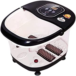 PowMax Foot Spa Massager,WW-51 Multi-function Heat Infrared Vibrating Air bubble Electric Foot Massager Foot, SPA Bath Massager Foot Shiatsu for Foot, Ankle, Leg, Calf, Etc.