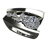 yosemite Anillos para Mujer y niña con Incrustaciones de Diamantes de imitación geométricos