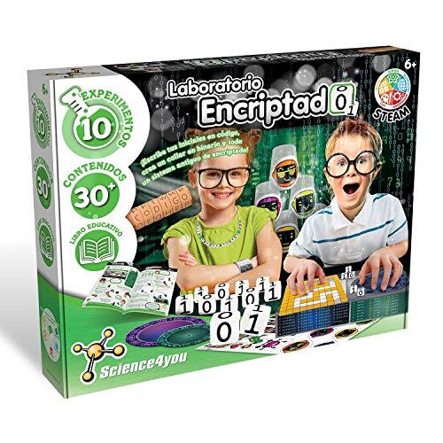 Science4you-Science4you-Laboratorio Encriptado Programación para Niños 6 7 8 9 10 años-Juguete científico y Educativo, Multicolor (80002458)