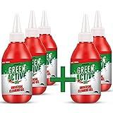 Green Tiger – Limpiador de juntas de gel [versión mejorada] | Ideal para paredes y juntas en cocina y baño | Eliminador de suciedad de juntas y eliminador (5 botellas)