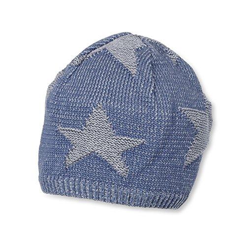Sterntaler Baby-Jungen Strickmütze Mütze, Blau (Nachtblau 366), 49