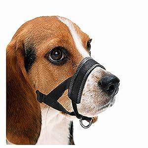 Comcrib réglable pour animal domestique Chien Bouche Coque Muselières Anti-biting les aboiements confortable Noir Muselière