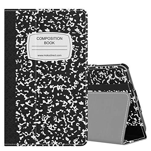 MoKo Funda Compatible con Amazon Kindle Fire 7 Tablet (9th Generation - 2019 Release), Ultra Slim Función de Soporte Plegable Smart Cover Stand Case - Notebook Negro