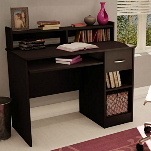 South Shore Small Desk - Great Writing Desk for Your Child - The Computer Desk Is Great for Your Kid's Bedroom or Any Small Area - Place a Laptop in This Study Table - 5 Years Warranty! (Chocolate)