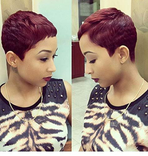 BeiSDWig Short Pixie Haircuts Synthetic Short Wigs for Black Women Short Hairstyles for Women (8772)
