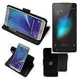 K-S-Trade® Hülle Schutz Hülle Für Cubot X12 Handyhülle Flipcase Smartphone Cover Handy Schutz Tasche Bookstyle Walletcase Schwarz (1x)